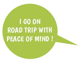 I go on road trip with peace of mind