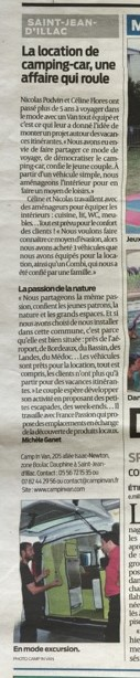Article Sud Ouest 7/08/14